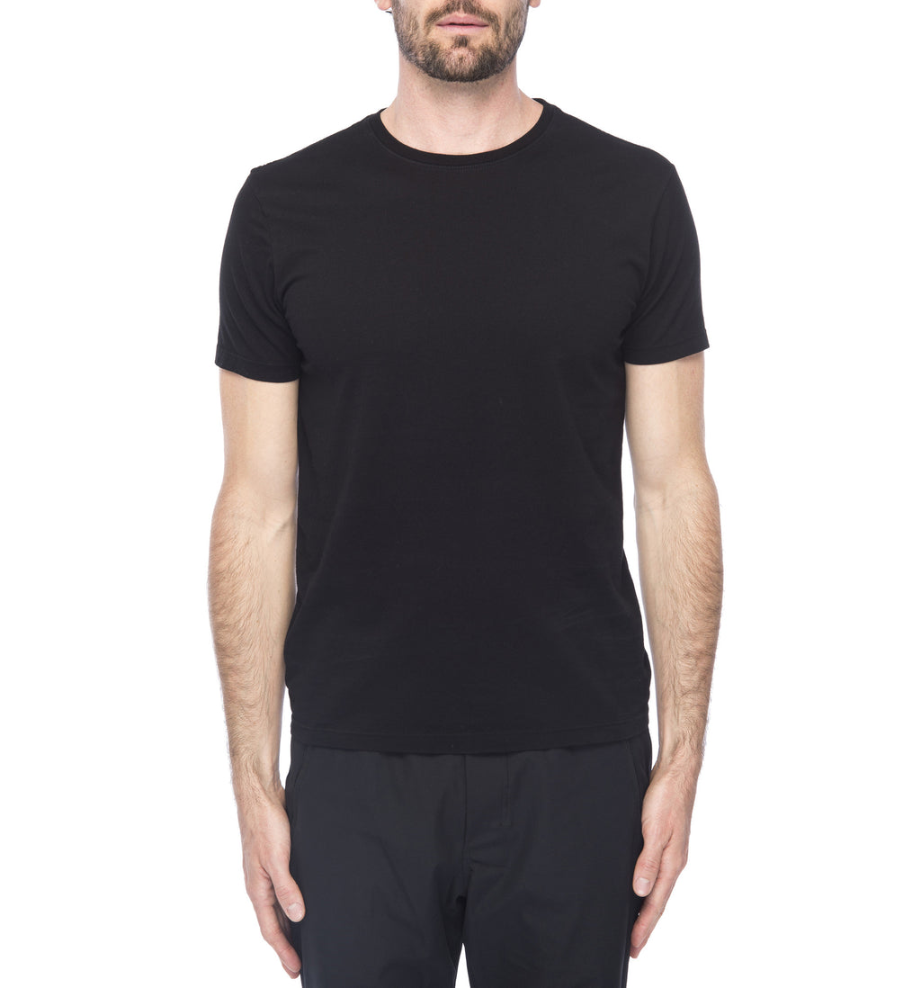 Supima Crew Neck Tee | Black