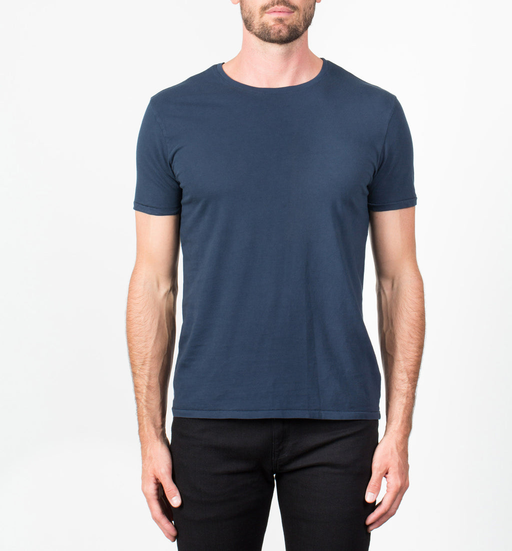 Supima Crew Neck Tee | Navy