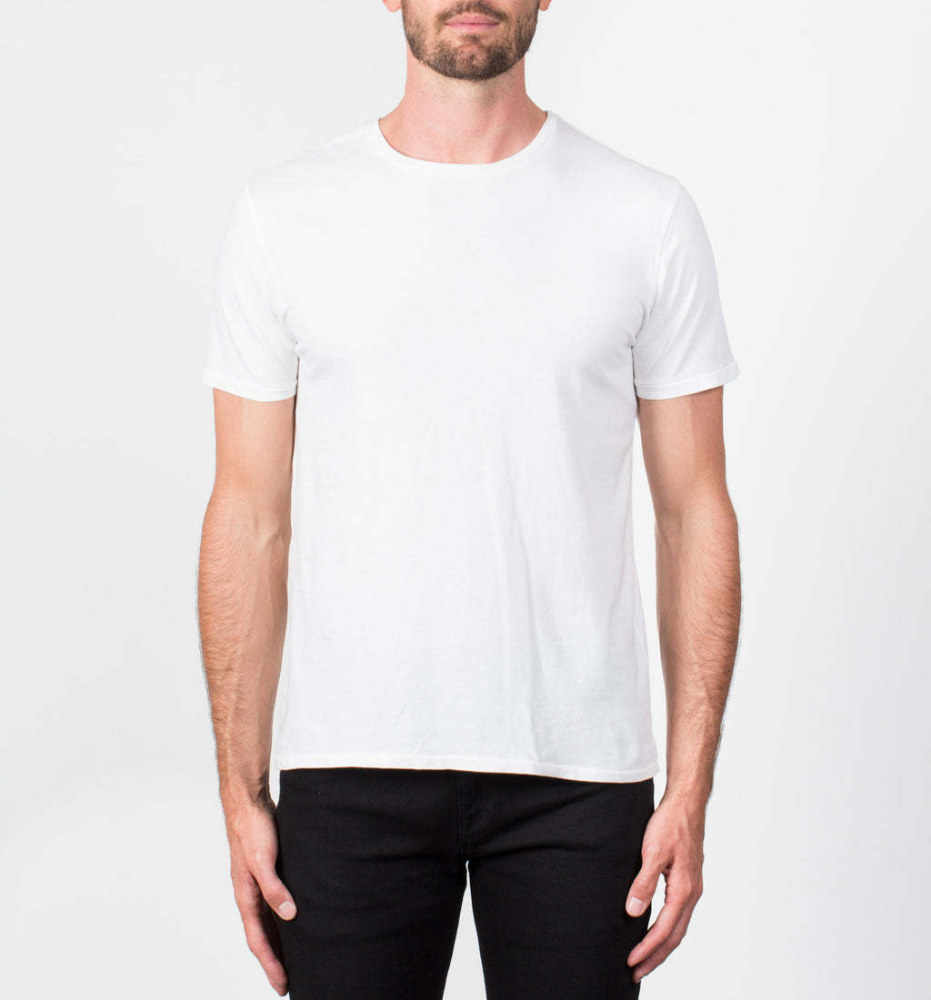 Supima Crew Neck Tee | White