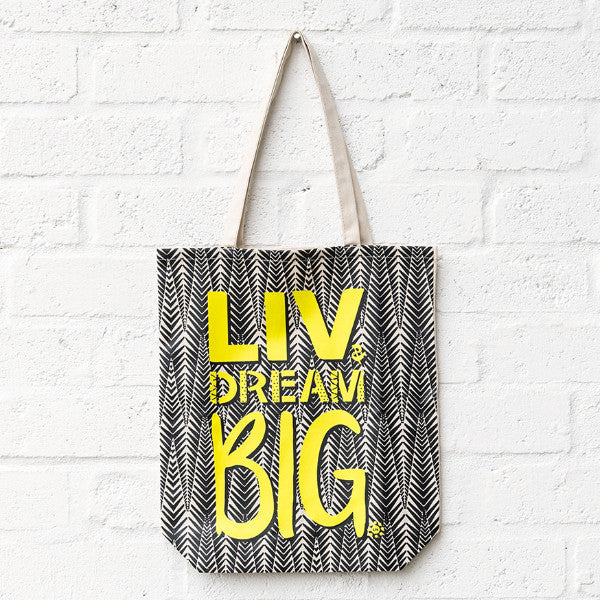 LIV & Dream Big Aztec Tote SA ONLY