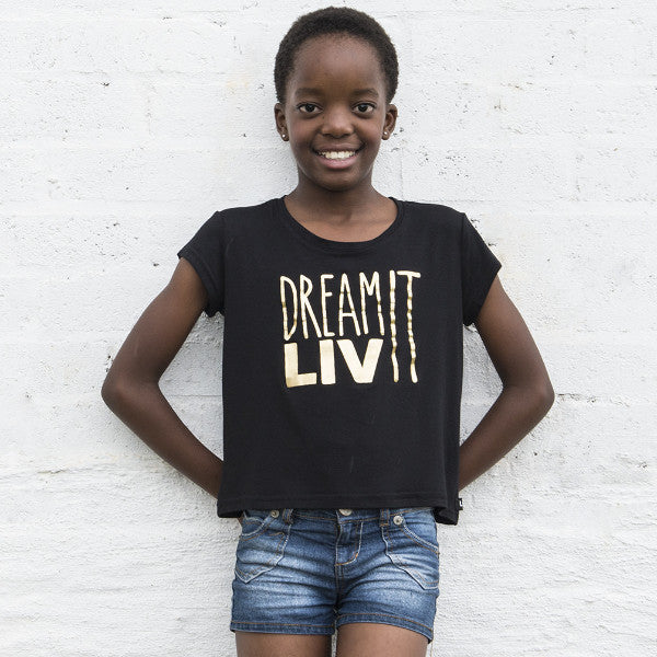 Big Girls Dream It LIV It Crew Neck Tee
