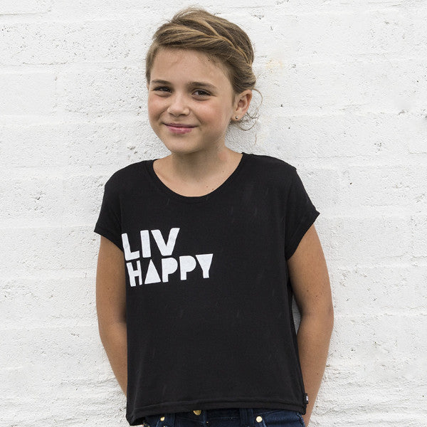Big Girls LIV Happy Crew Neck Tee - SA ONLY