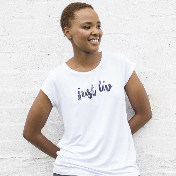 Womens Just LIV Crew Neck Tee - SA ONLY