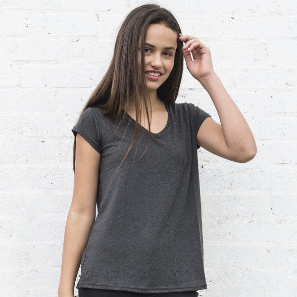 Womens Drapey V Neck Tee - SA ONLY