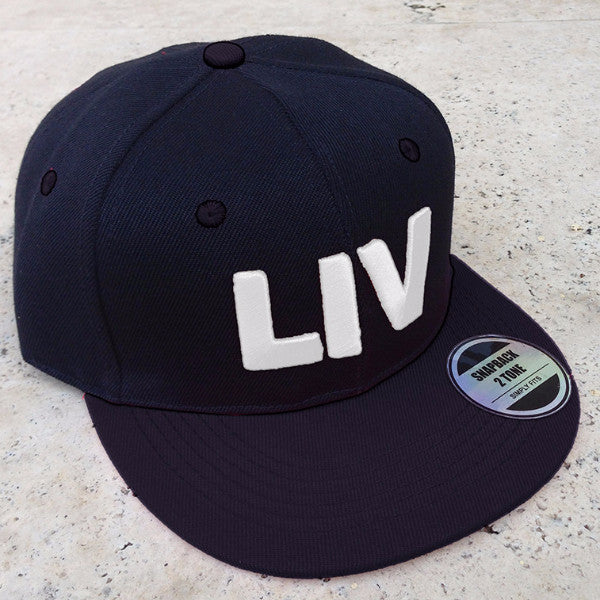 LIV Cap, Black & White Embroidered