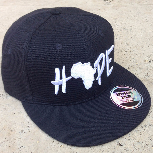 Hope Cap, Black & White, Embroidered