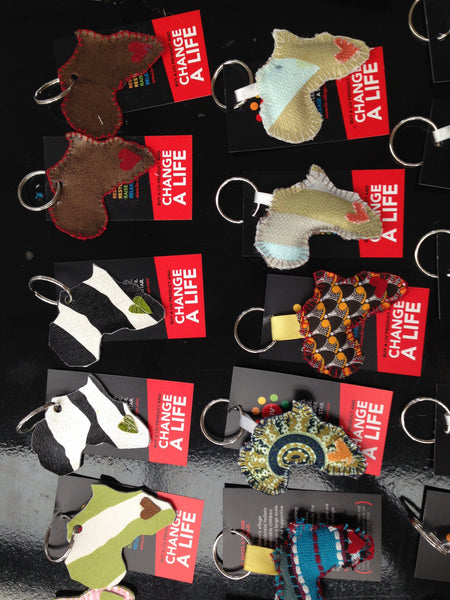 Leather Africa Key Rings