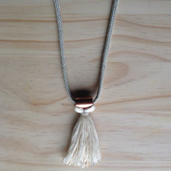 Rope & Copper Pendant Tassel SA ONLY
