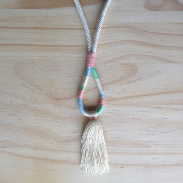 Multi Coloured Tread & Rope Pendant SA ONLY