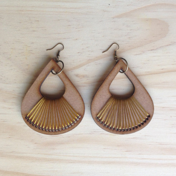 Teardrop Wooden Earrings SA ONLY