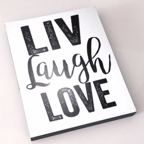 LIV Laugh Love Inspirational Block SA ONLY