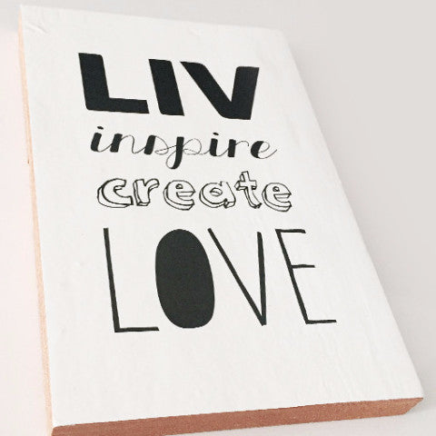 LIV Inspire Create Love Inspirational Block SA ONLY