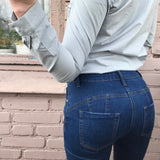 Tight Fit Distressed Freddy Jeans