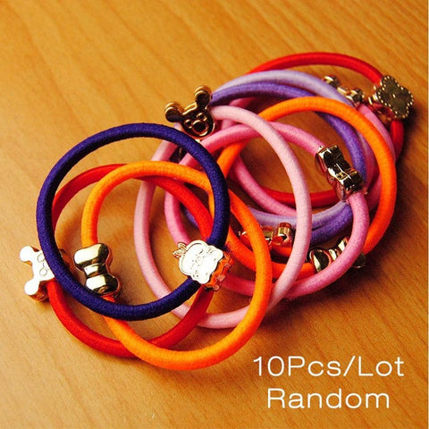 10 Piece Color Gold Charm Hair Band