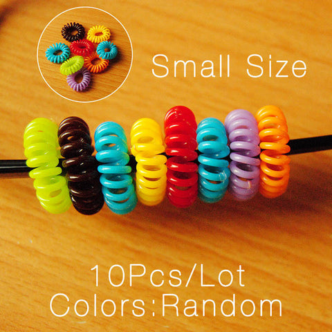 8 Piece Telephone Cord Hair Band