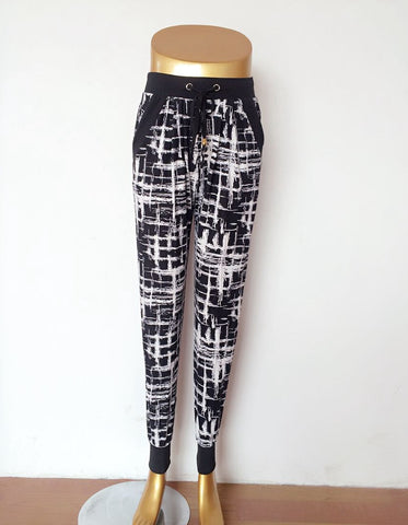 Drawstring Abstract Joggers