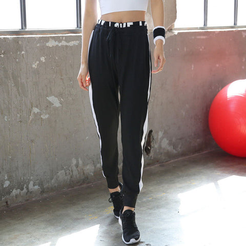 Loose Striped Sweatpants