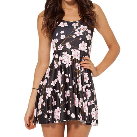 Cherry Blossom Black Dress