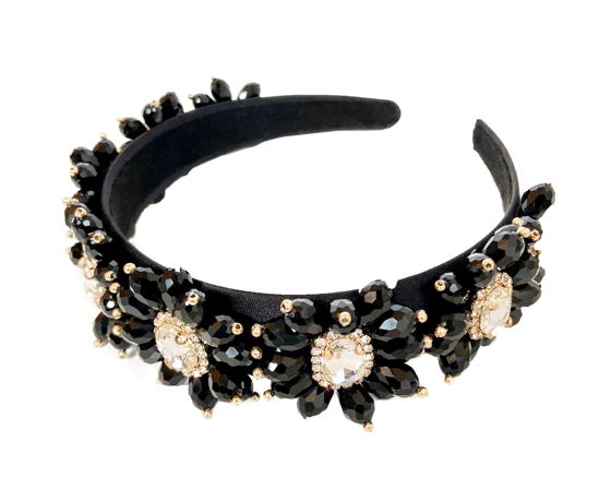 """The Fancy"" Embellished Jewelled Headband"
