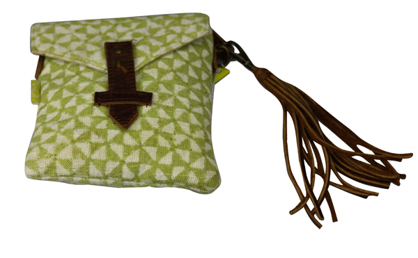 MOSS PINWHEEL ENVELOPE CROSSBODY BAG