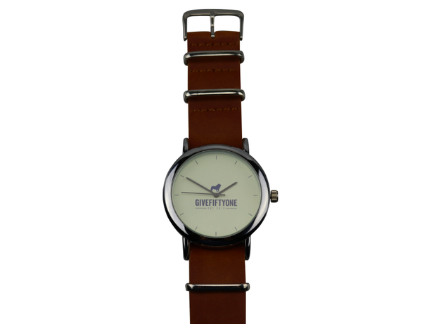 BROWN LEATHER COAST TO COAST WATCH