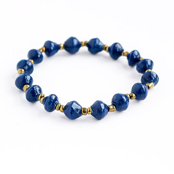 ATITINY SLIM STACKABLE BRACELET NAVY BLUE
