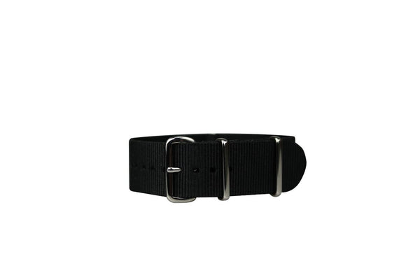 SOLID BLACK NATO STRAP