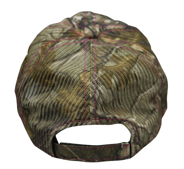 Jones Bros & Co Camo with Pink Lettering Hat