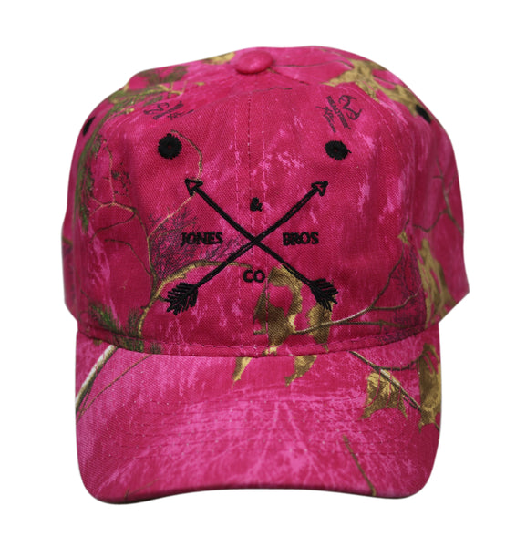 Jones Bros & Co Pink Camo with Black Lettering Hat