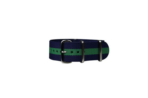 NAVY & GREEN WATCH STRAP