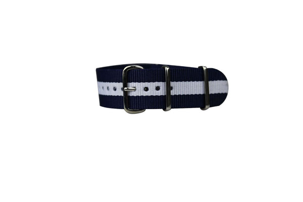 NAVY & WHITE WATCH STRAP