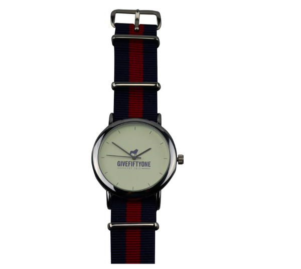 NAVY & RED COAST TO COAST WATCH