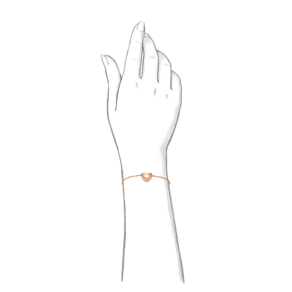 Taylor and Vine Rose Gold Heart Pendant Bracelet Engraved Happy 13th Birthday 7