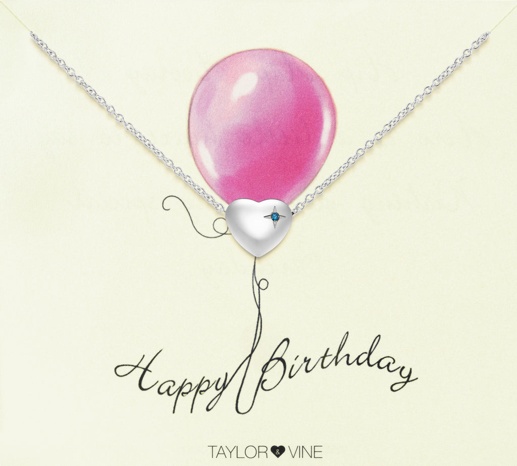 Taylor and Vine Silver Heart Pendant Bracelet Engraved Happy 18th Birthday