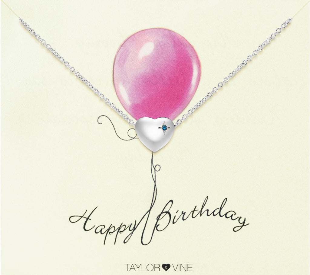Taylor and Vine Silver Heart Pendant Bracelet Engraved Happy 21st Birthday