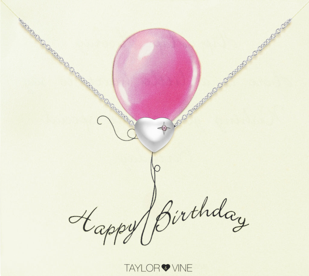 Taylor and Vine Silver Heart Pendant Bracelet Engraved Happy 21st Birthday 9