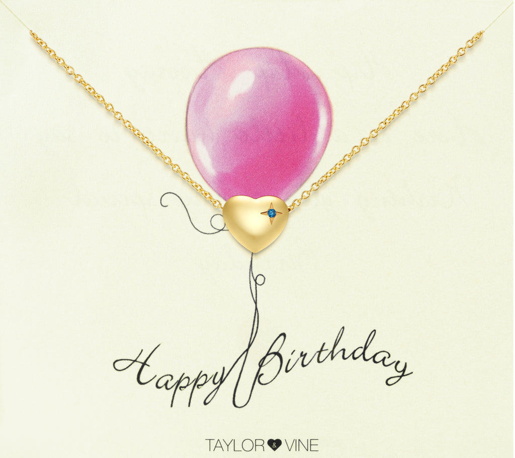 Taylor and Vine Gold Heart Pendant Bracelet Engraved Happy 21st Birthday