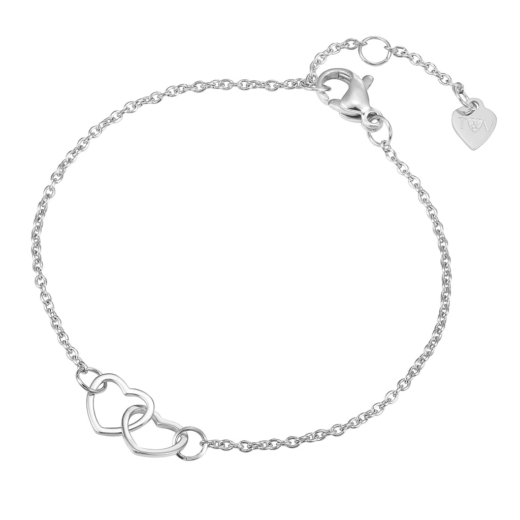 Friendship Collection Heart Pendant Bracelet with Two Bracelets, One to Keep & One to Give,