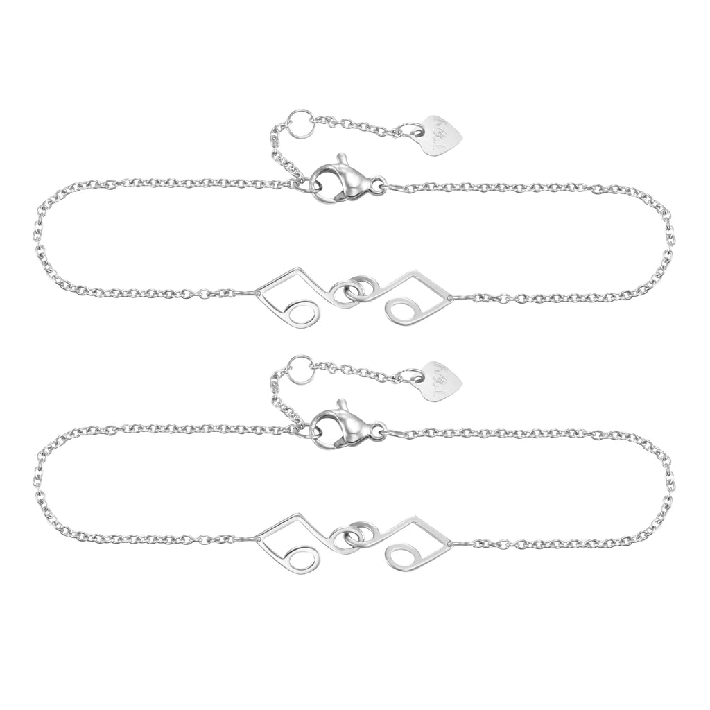 Friendship Music Pendant Bracelet with Two Bracele