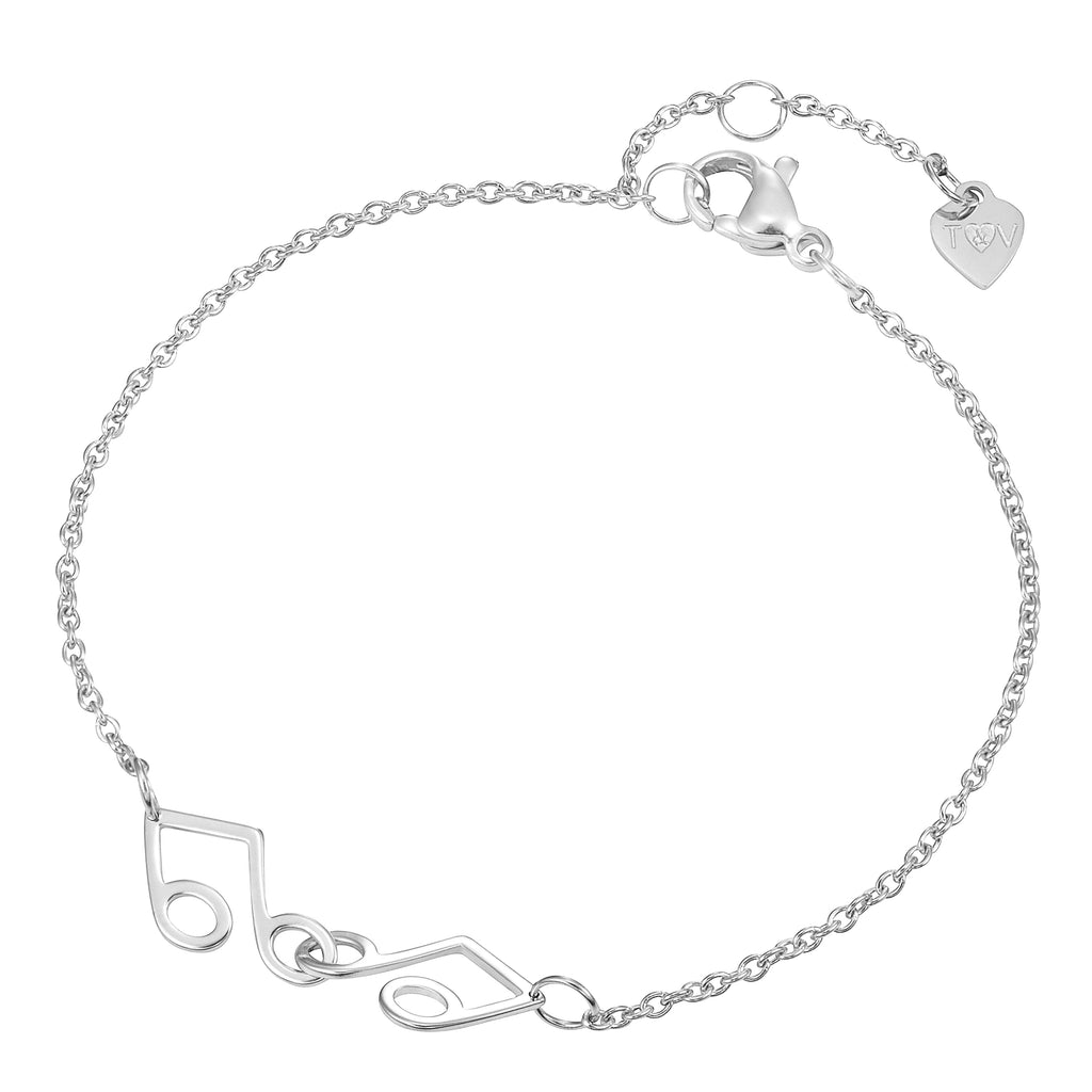 Friendship Music Pendant Bracelet with Two Bracelets, One to Keep & One to Give
