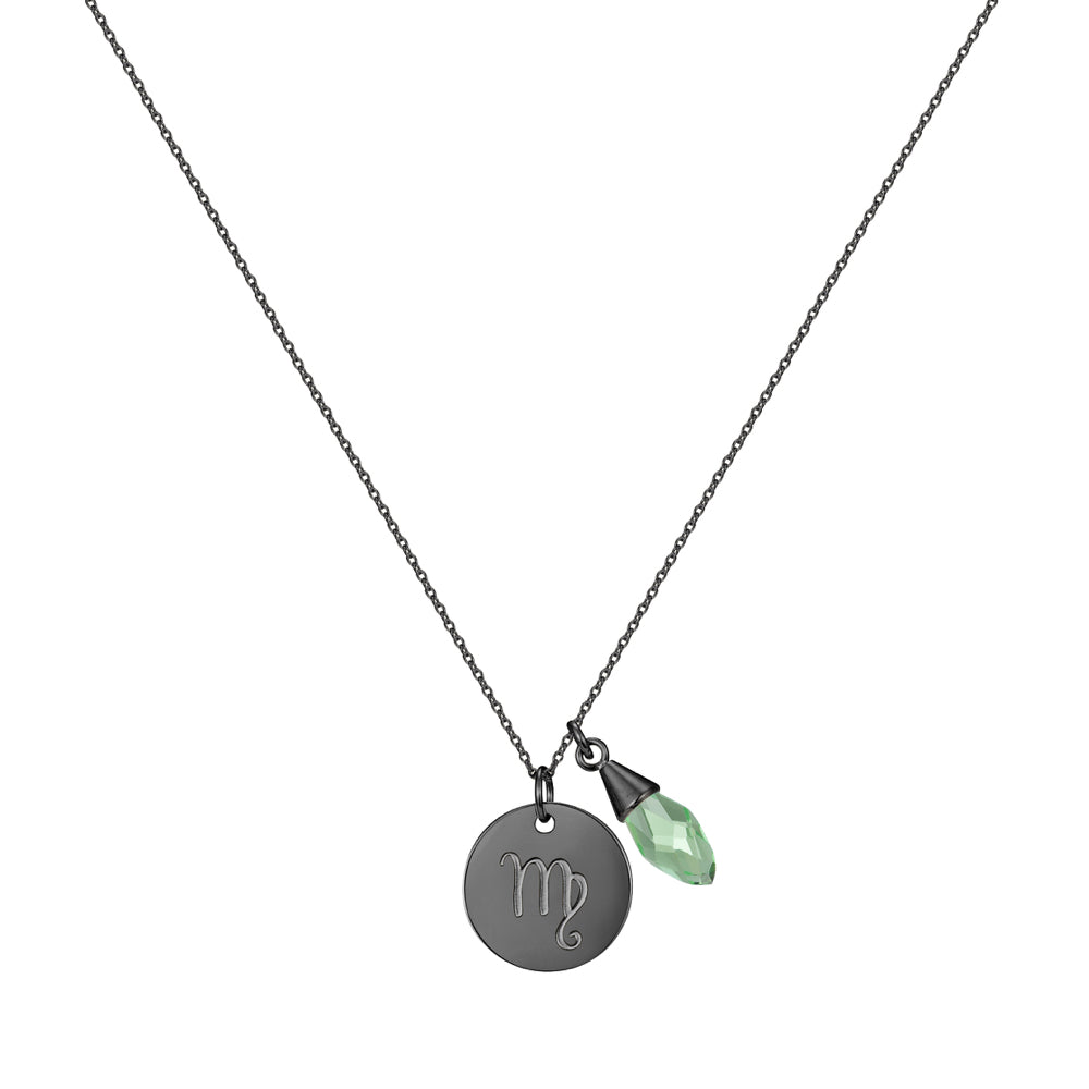 Taylor and Vine Star Signs Virgo Black Necklace with Birth Stone 1