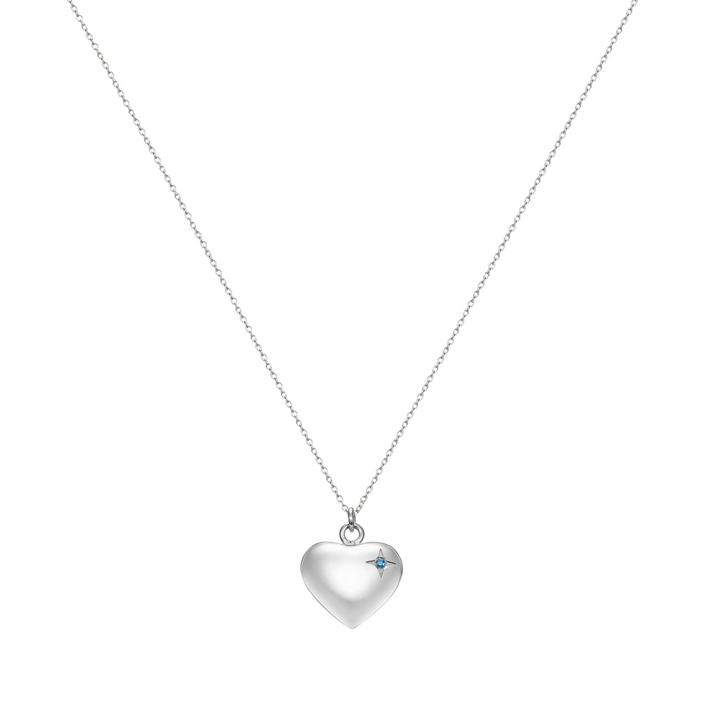 Taylor and Vine Silver Heart Pendant Necklace Engraved Happy Birthday 3