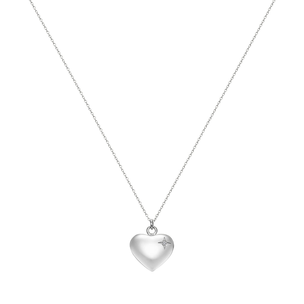 Taylor and Vine Silver Heart Pendant Necklace Engraved Happy Birthday 21