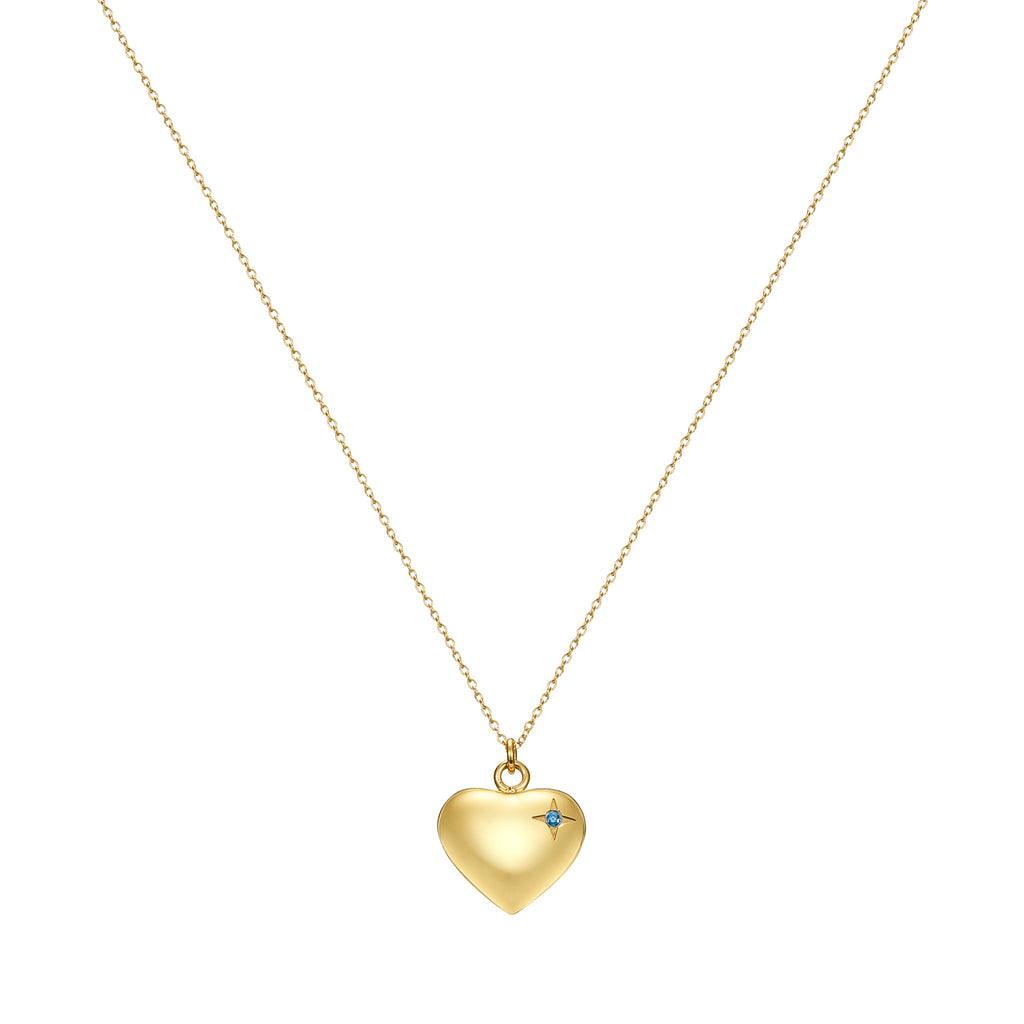 Taylor and Vine Gold Heart Pendant Necklace Engraved Happy Birthday 5