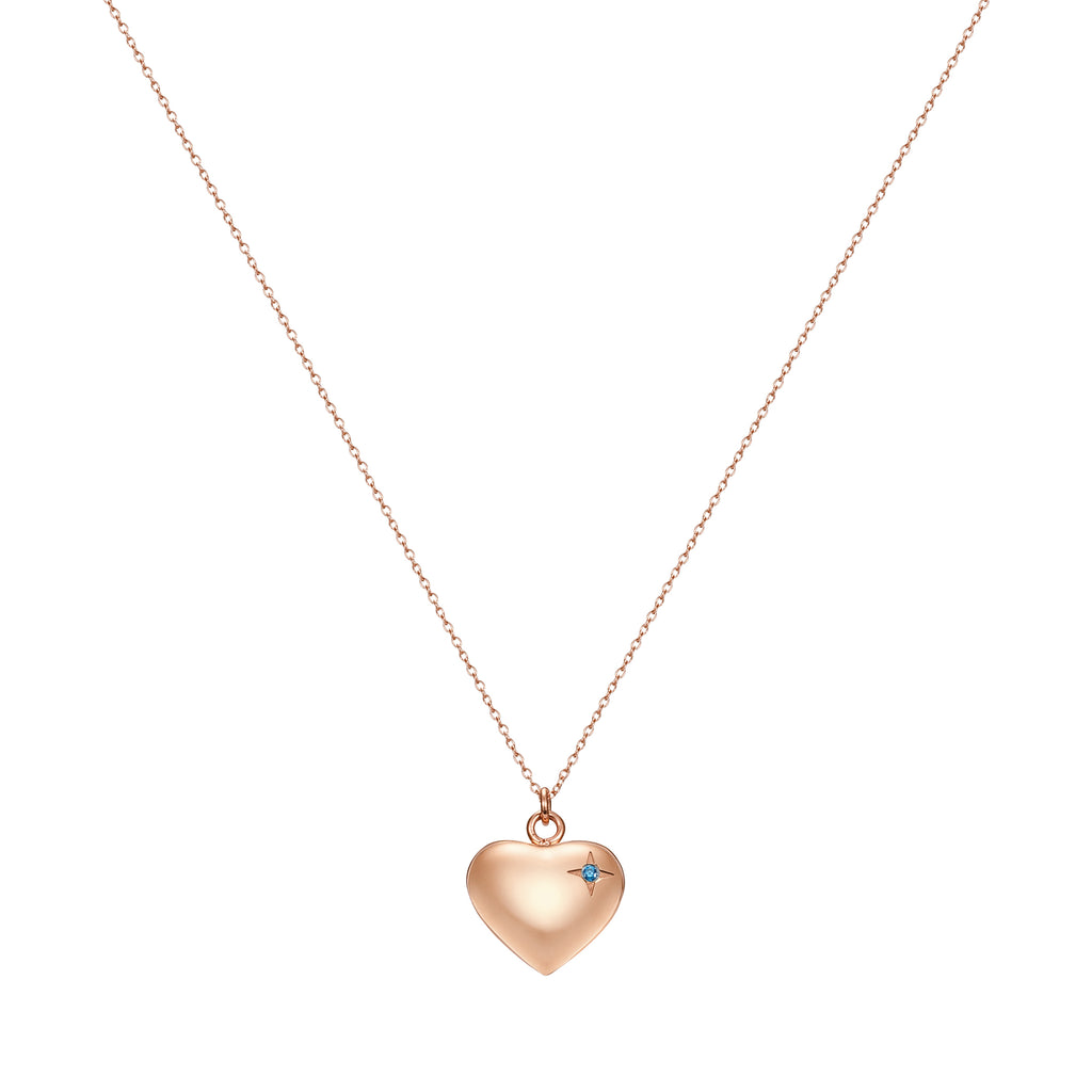 Taylor and Vine Rose Gold Heart Pendant Necklace Engraved Happy Birthday 4