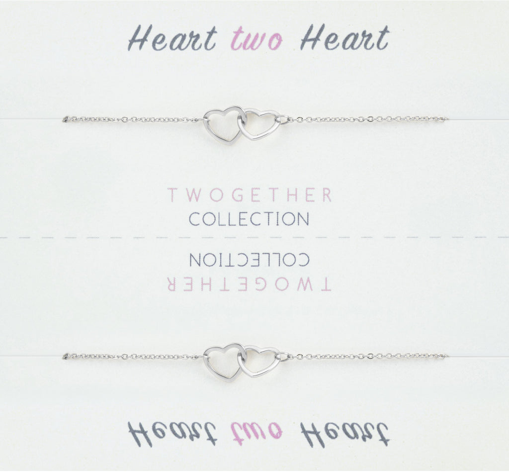 Friendship Collection Heart Pendant Necklace with Two Necklaces, One to Keep and One to Give