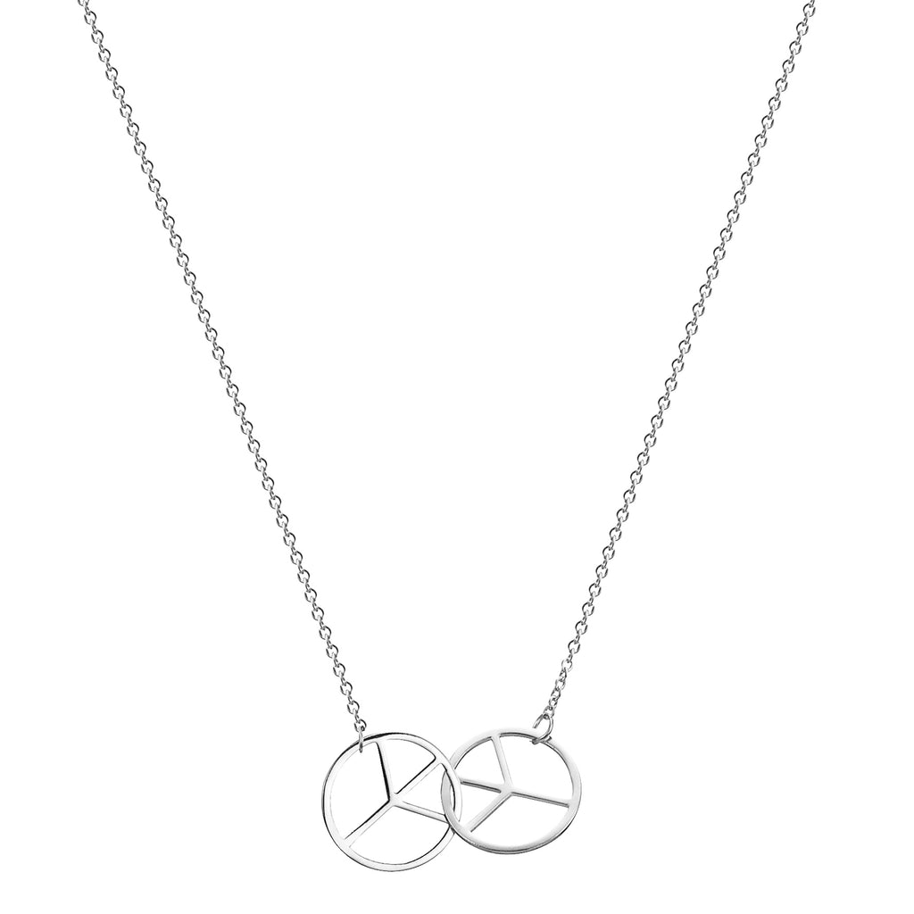Friendship Peace Pendant Necklace with Two Necklaces, One to Keep & One to Give