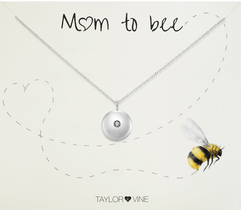 Taylor and Vine Mum to Be Pregnancy Silver Necklace Engraved with the Seed of Life 5