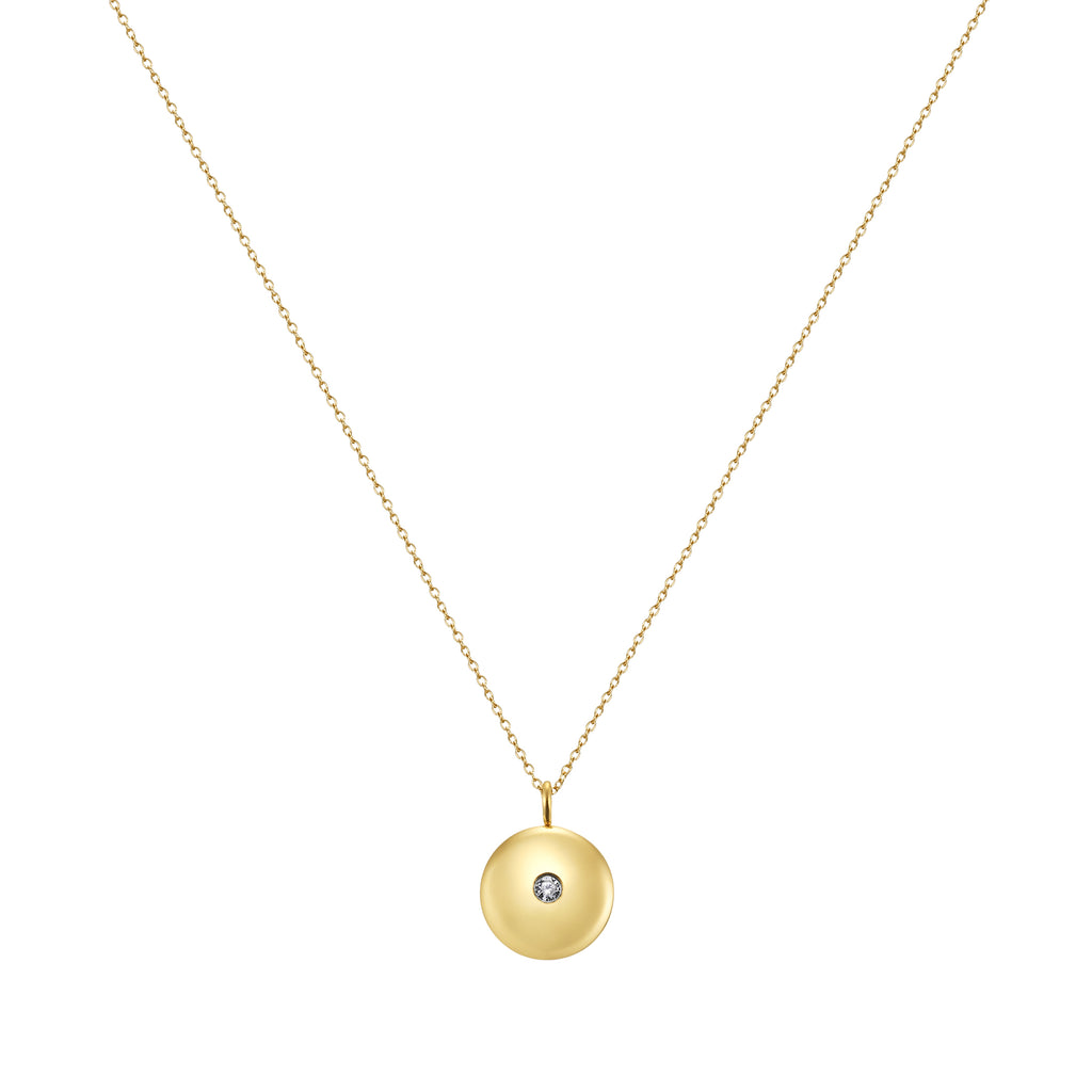 Taylor and Vine Mum to Be Pregnancy Gold Necklace Engraved with the Seed of Life 1