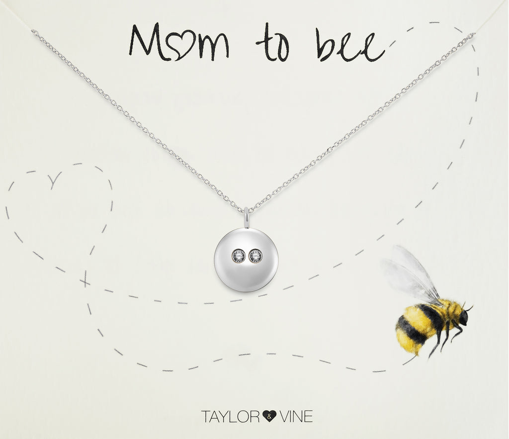 Mum To Bee Seed of Life Pendant Necklace with Twin CZ